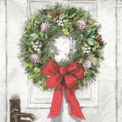 Věnec na bílých dveřích 33x33