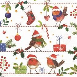 Veselí ptáčci s čapkami 33x33