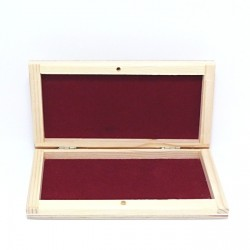 Dřevěná krabička na bankovky, se sametem uvnitř
