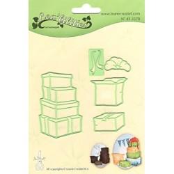 Vyřezávací šablony - krabice s mašlí