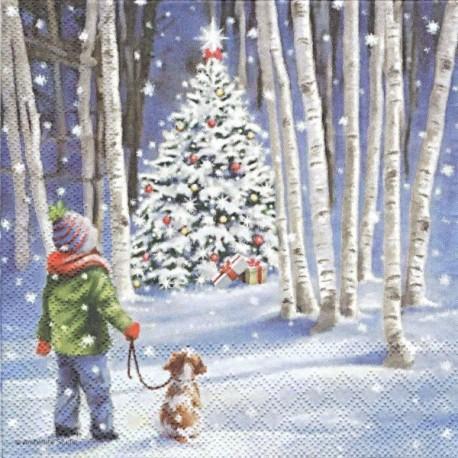 Vánoční strom v lese 33x33