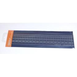 Akrylová deska pro děrování - bordura č.2 (GROOVI)