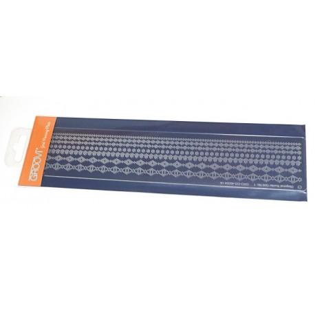 Akrylová deska pro děrování - bordura diagonal č.1 (GROOVI)