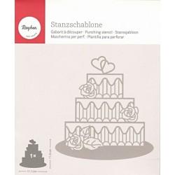 Vyřezávací šablona - svatební dort (Rayher)