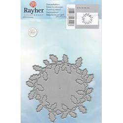 Vyřezávací šablona cesmínový věnec (Rayher)