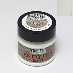 Antiquing 50ml - bílá (Pentart)