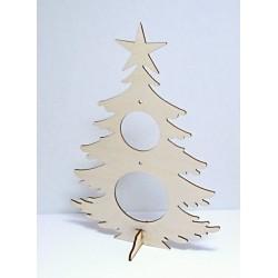 Dřev.výřez Vánoční strom větší