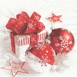 Vánoční zátiší v červené 33x33