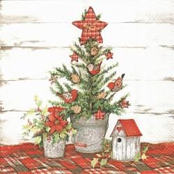 Vánoční strom na chalupě 33x33