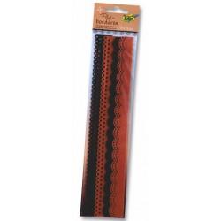 Filcové bordury - hnědé odstíny