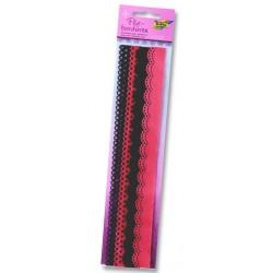 Filcové bordury - růžové odstíny