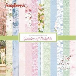 Sada papírů Gaarden of Delights 15x15