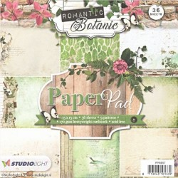 Sada papírů 15x15 Romantic Botanic nr.57 (SL)