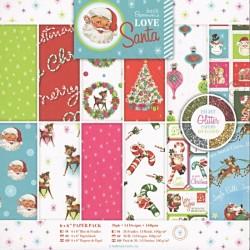 Sada papírů Love Santa 15x15 (docrafts)