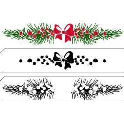 Transp.razítka 2ks - Christmas Border (Nellie Snellen)