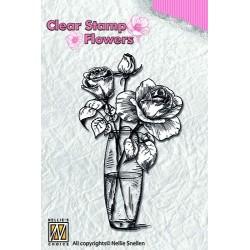 Transp.razítko - Růže (Nellie Snellen)