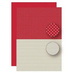 Papír na pozadí A4 - vánoční hvězdy v zelenočervené