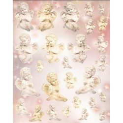 Papírové výseky - Andílci z alabastru