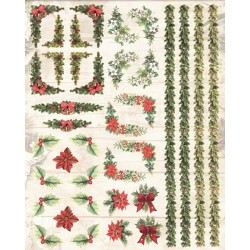 Papírové výseky - Vánoční bordury a rohy