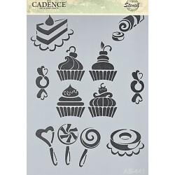 Šablona Cadence A4 - cukrovinky