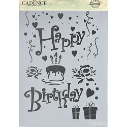 Šablona Cadence A4 - Happy Birthday