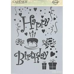 Šablona Cadence A4 - Happy Birthday