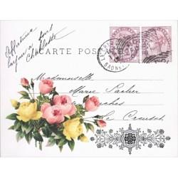 Transfer Cadence 25x35 -Carte Postale, růžičky