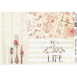 Rýžový papír A4 Tea is A Cup of Life