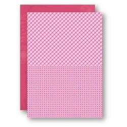 Papír na pozadí A4 - čtverce, káry v růžové