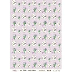 Rýžový papír A4 Lavender, kroužky