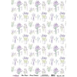 Rýžový papír A4 Lavender, a jiné drobné kytice