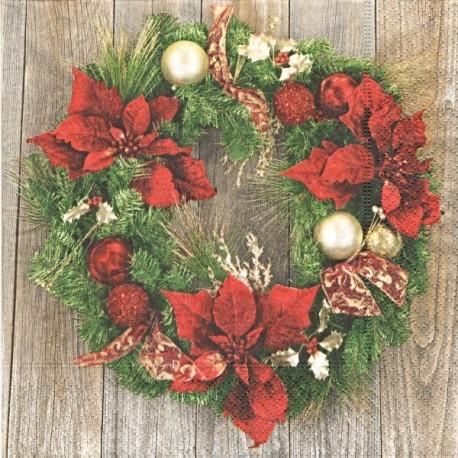 Tradiční vánoční věnec 33x33