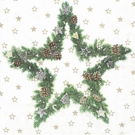 Hvězda z jedlových větví 33x33