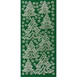 Kontury Vánoční stromky zelená