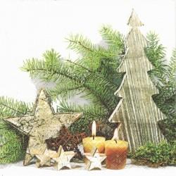 Zátiší s vánoční dekorací 33x33