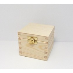 Krabička na čaj - 1 komora, rovné víko, kování (DP)