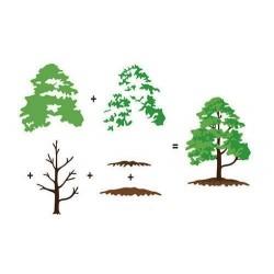 Transp.razítka 3D - Listnatý strom (Nellie Snellen)