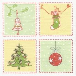 Čtyři vánoční motivy 33x33