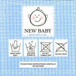 Nové dítě, modrá 33x33