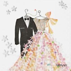 Šaty pro nevěstu a ženicha 33x33