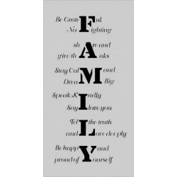 Šablona Cadence Mix Media - slova o rodině