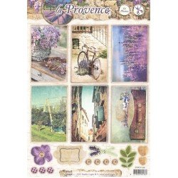 Papírové výseky A4 - La Provence, kolo (SL)