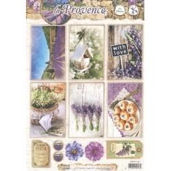Papírové výseky A4 - La Provence, ptačí budka (SL)