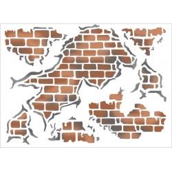 Šablona 15x20 - Stará zeď
