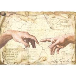 Papír rýžový A4 Michelangelo, Stvoření Adama