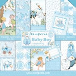Sada papírů 30,5x30,5 170g Baby Boy