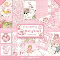 Sada papírů 30,5x30,5 170g Baby Girl