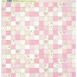 Baby Girl, patchwork 30,5x30,5 scrapbook