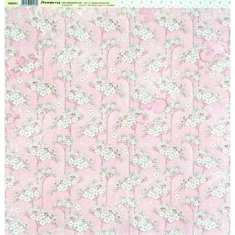 Baby Girl, květy 30,5x30,5 scrapbook