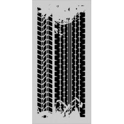 Šablona Cadence Mix Media - různé otisky pneumatik